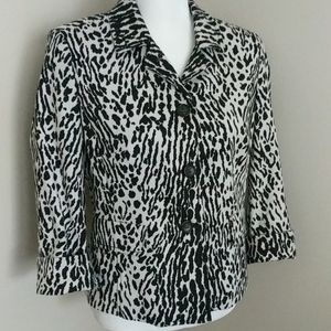 Talbot's black and cream zebra blazer. 10P